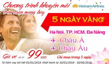 5 ngày vàng khuyến mãi, không lo về giá cùng Vietnam Airlines